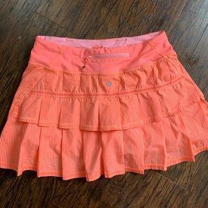 Lululemon skirts short orange
